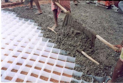 Plastic Cell Filled Concrete